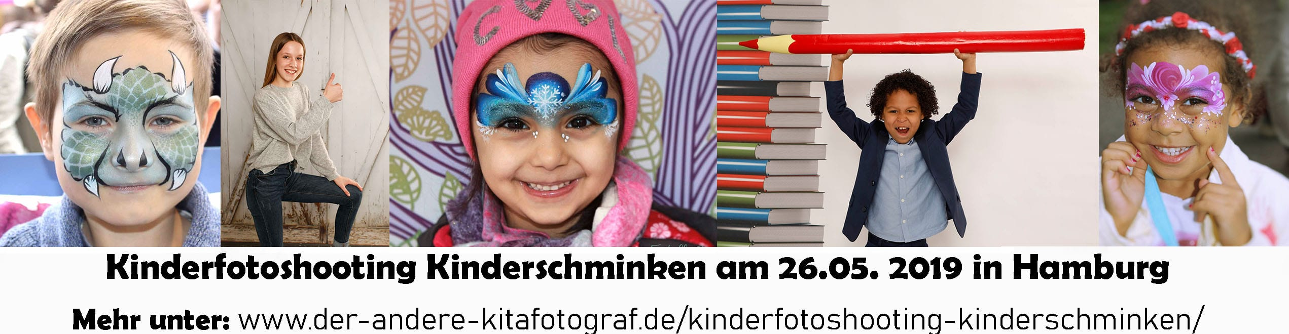 Kinderfotoshooting Kinderschminken in Hamburg